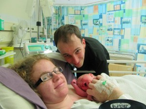 Cath, Dave and Michael, a hypnobirth that became a caesarean